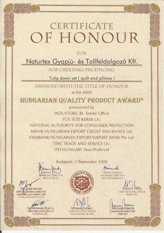 Hungarian Quality Product Award